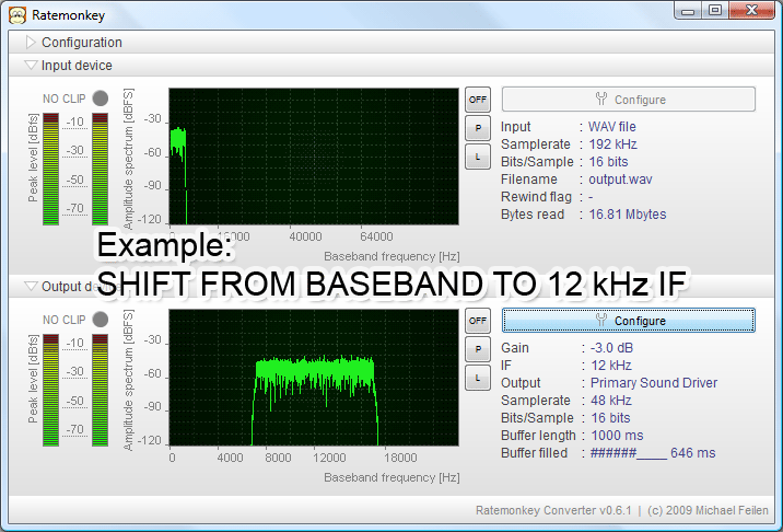 Shift from baseband to IF